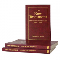 N.T. ANGL. PARAGRAPHED 55A RED, KING JAMES VERSION